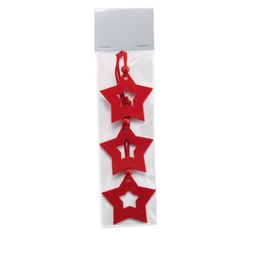Immagine di CX1346 STARFY - Set 3 decorazioni 'stella'