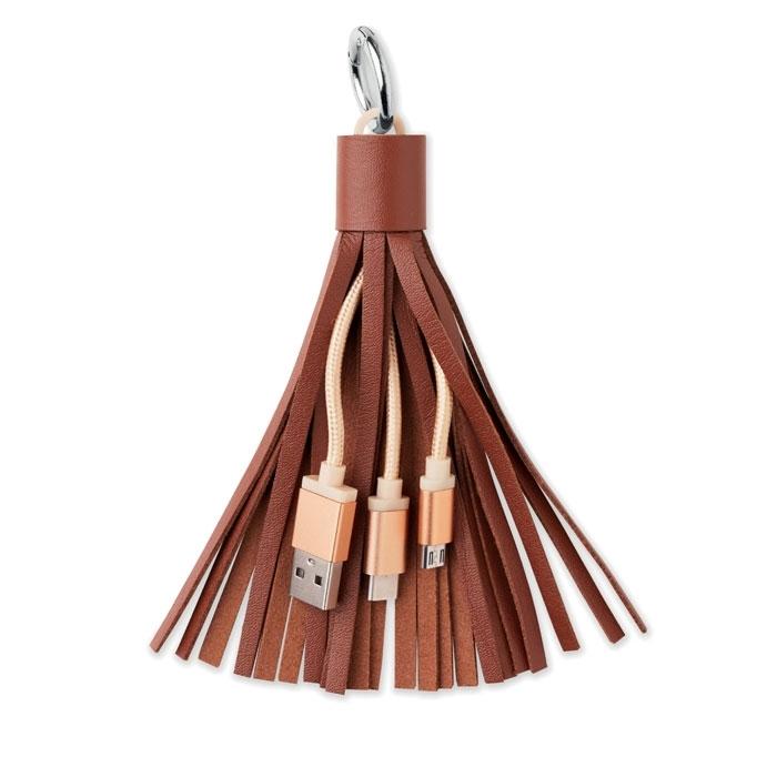 Immagine di MO9290 TASSEL - Portachiavi moda con cavi