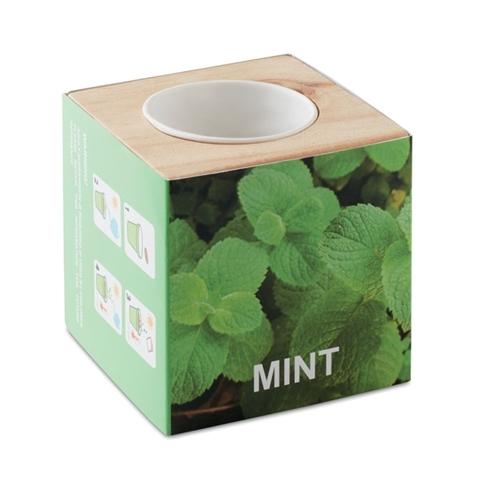 Immagine di MO9337 MENTA - Mini vaso in legno