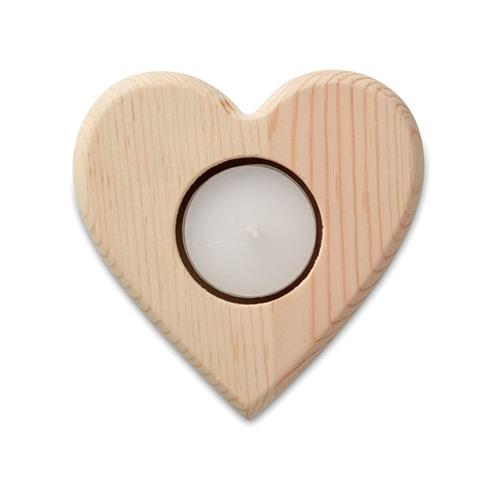 Immagine di MO9377 TEAHEART - Porta tea light in legno