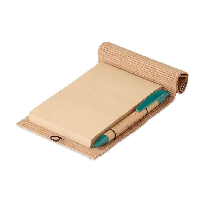 Immagine di MO9570 CORTINA NOTE - Notebook in bamboo con penna