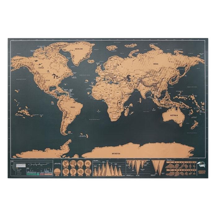 Immagine di MO9736 BEEN THERE - Cartina geografica del mondo