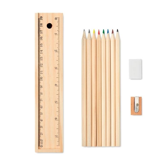 Immagine di MO9836 TODO SET - Set 12 penne in box di legno