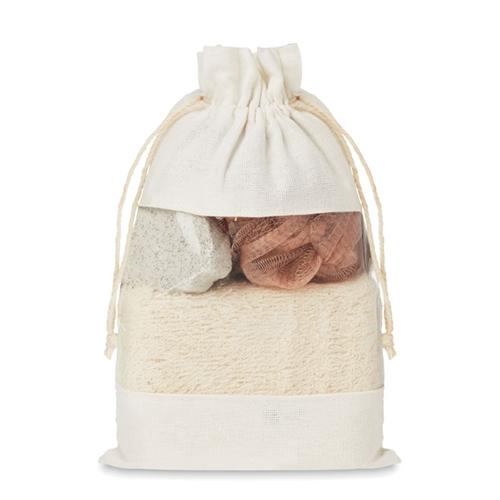 Immagine di MO9872 CUIDA SET - Set bagno in pouch di cotone