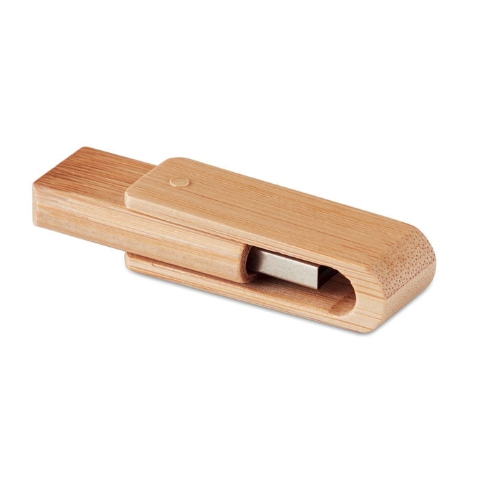 Immagine di MO1202 ROTATING BAMBOO CASING USB FLASH DRIVE - Usb