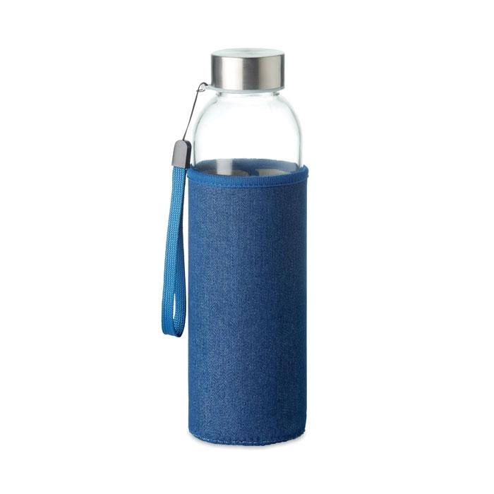 Immagine di MO6192 UTAH DENIM - Bottiglia in vetro con pouch