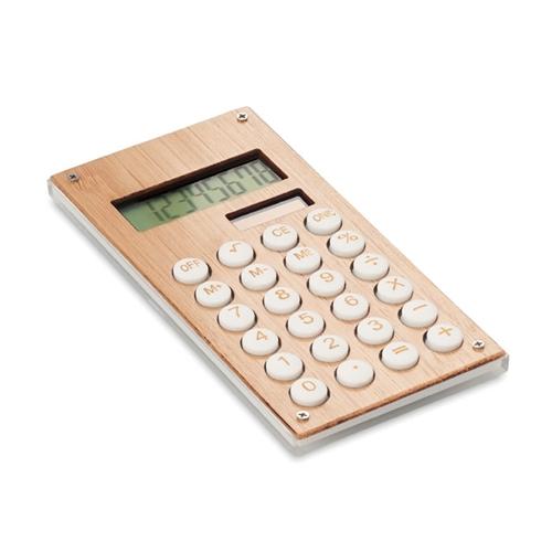 Immagine di MO6215 CALCUBAM - Calcolatrice in bamboo