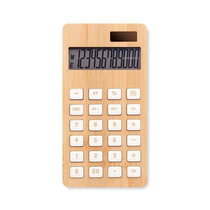Immagine di MO6216 CALCUBIM - Calcolatrice in bamboo